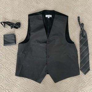 Calvin Klein tuxedo grey accessory set L